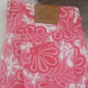 Lilly Pulitzer Pink Clamshell Jeans